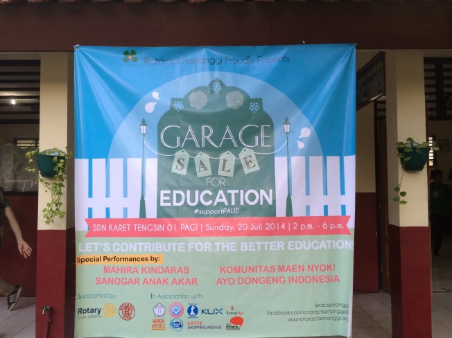Garage Sale For Education